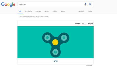 Digital Fidget Spinners - Users can Play with a Digital Distraction Tool If They Google 'Spinner'