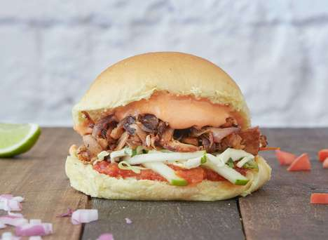 Plant-Based Pulled Pork Burgers