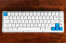 Aluminum Mechanical Keyboards - The 'WhiteFox' Mini Mechanical Programmable Keyboard is High-Quality