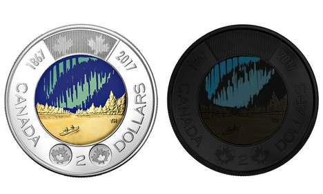 Glow-in-the-Dark Coins - This Luminous Toonie Celebrates Canada 150