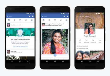 Inimitable Profile Pictures - Facebook's 'Profile Picture Guard' Makes Pictures Impossible to Copy