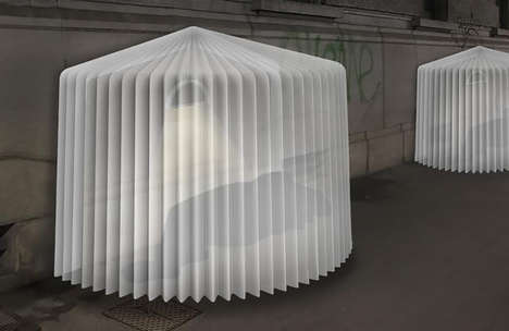 Private Outdoor Street Tents - This Folding Tent Concept Provides a Safe Haven for the Homeless