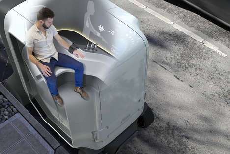 Autonomous Health Care Vehicles - This Self-Driving Concept Car is a Health Clinic on Wheels