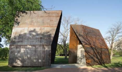 Architectural Public Restrooms - The Raw Steel and Concrete 'Lady Bird Loos' Will Patina Over Time