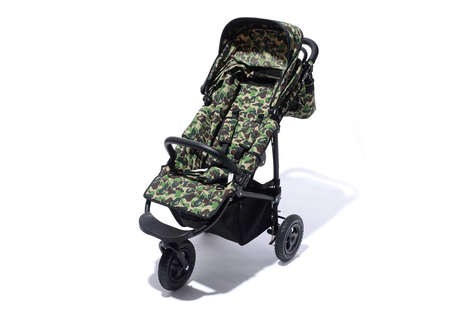 Streetwear Baby Strollers - This New BAPE Stroller is Covered in Its Iconic Camouflage Pattern