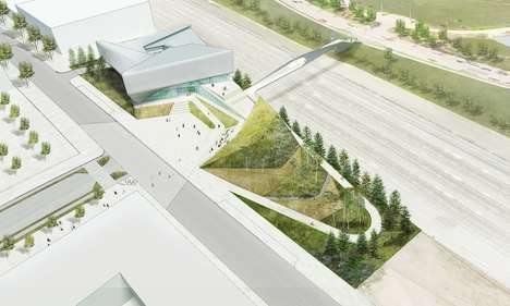 Folded Museum Facades - The New US Olympic Museum Has Just Broken Ground