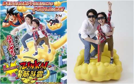 Virtual Anime Roller Coasters - J-World Tokyo's Dragon Ball-Themed Flying Nimbus Delivers 3D Thrills