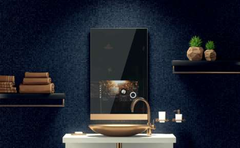 Air-Purifying Smart Mirrors - The 'Fred' Smart Home Mirror Displays Content and Plays Music