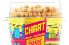 Indian-Inspired Yogurt Cups - Chaat's Spicy, Sweet and Savory Yogurt is Topped with Lentil Puffs