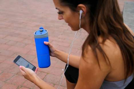 Hydration-Tracking Bottles - The 'Ozmo' Smart Bottle Reminds You to Hydrate Throughout the Day