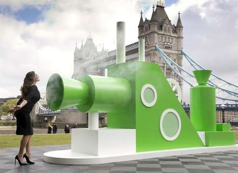 Edible Cloud Activations - This Pringles Activation Was Hosted Near London Bridge