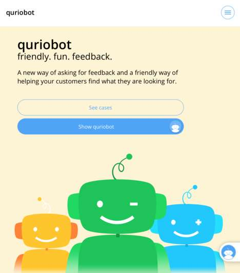 Feedback-Gathering Chatbots - 'Quriobot' Replaces Online Forms with Conversational Chats