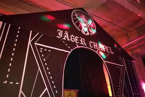 Branded Pop-Up Chapel Bars - The Jager Chapel Was a Romantic Activation Hosted in France