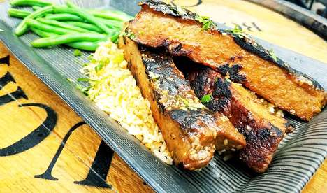 Meatless Rib Strips - Bourbon Butcher Now Serves Korean-Style Ribs from The Herbivorous Butcher