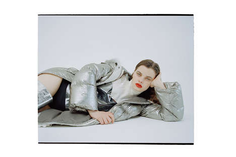 Space Race-Inspired Coats - Moncler's Luxurious Over-Sized Metallic Parka is Futuristic and Fun