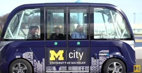 Driverless University Shuttles - The Mcity Driverless Shuttle Will Transport Michigan Students