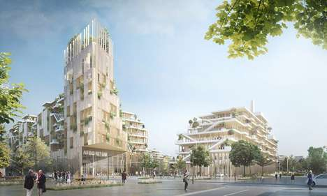 Wood-Made Office Campuses - The 'Nanterre Arboretum' Will Be the World's Largest Solid Wood Project