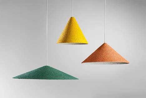 Textured Pendant Lighting - These Minimalist Chandeliers are Linear and Textured in Appearance