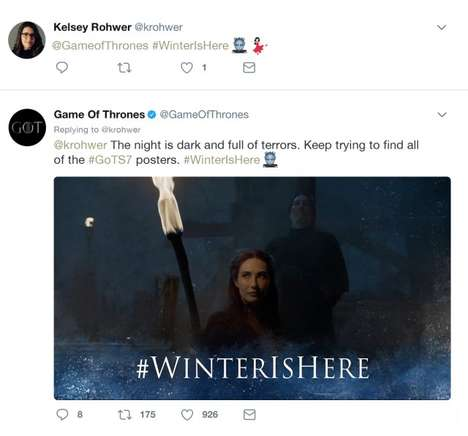 Social Emoji Campaigns - This Game of Thrones Campaign Makes the Most of Emojis on Twitter