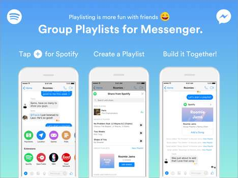 Group Chat Playlists - Spotify's Group Playlists for Messenger is Perfect for Road Trips or Parties