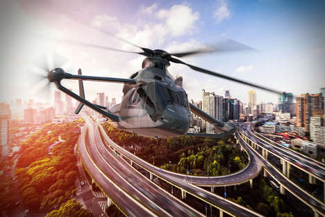 Speedy Multi-Rotor Helicopters - The Airbus Racer Helicopter Has a 250mph Cruising Speed