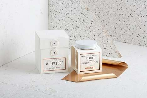 Gift-Inspired Candle Packaging - These Candle Containers Were Designed with Quality in Mind