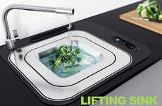 Adjustable Depth Sinks - The 'Lifting Sink' Offers Three Levels of Basin Sizes to Choose From