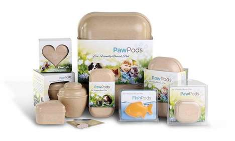 Biodegradable Pet Burial Vessels - Paw Pods Offers a Unique Burial Option for Pets