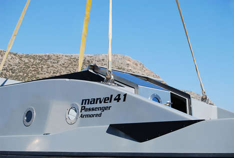 Armored Security Speedboats - The Marvel 41C Boat is an Architect-Designed Luxury Security Vessel