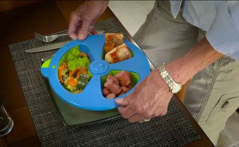 Meal Portion Control Measurers - The 'SkinnyPlate' Portion Control Plates Let You Eat What You Want