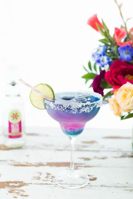 Unicorn-Inspired Margaritas - This Summer Margarita Recipe is Made With Izze Sparkling Water