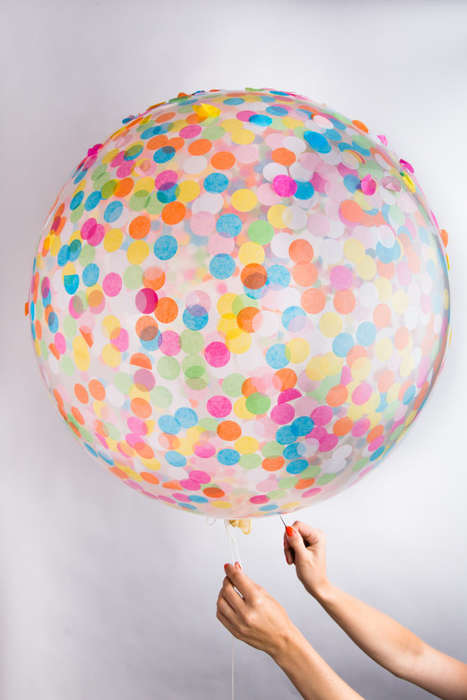Oversized Confetti-Filled Balloons - The Knot&Bow Confetti Balloon Distributes Decoration Everywhere