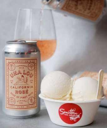 Rosé-Based Ice Cream Flavors - The Smitten Ice Cream Brand Offers Several Distinct Seasonal Flavors