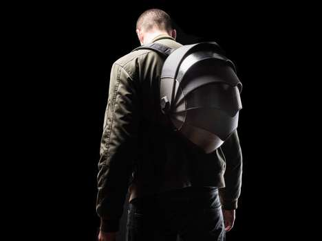 Hemispherical Shell Backpacks - The Pangolin Utilitarian Backpack Was Made for the Maverick Biker