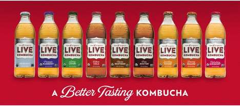 Fermented Soda-Inspired Drinks - LIVE Kombucha is Flavored Like Soda to Appeal to Consumers