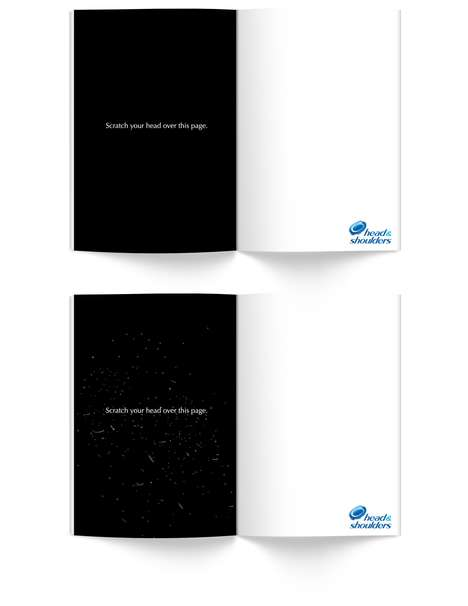 Dry Scalp Print Ads - This Head & Shoulders Advertisement Calls for a Check for Dandruff