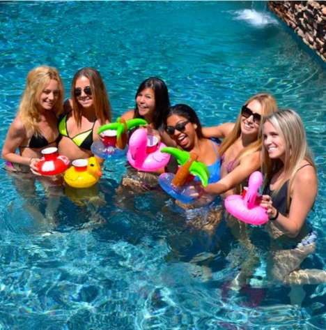Drink-Sized Pool Floats - These Adorable Pool Floats for Drinks Hold Red Solo Cups