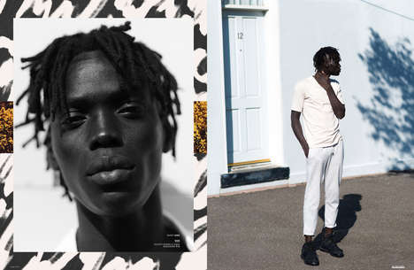 This Men's Fashion Editorial Spotlights Monochromatic Casuals