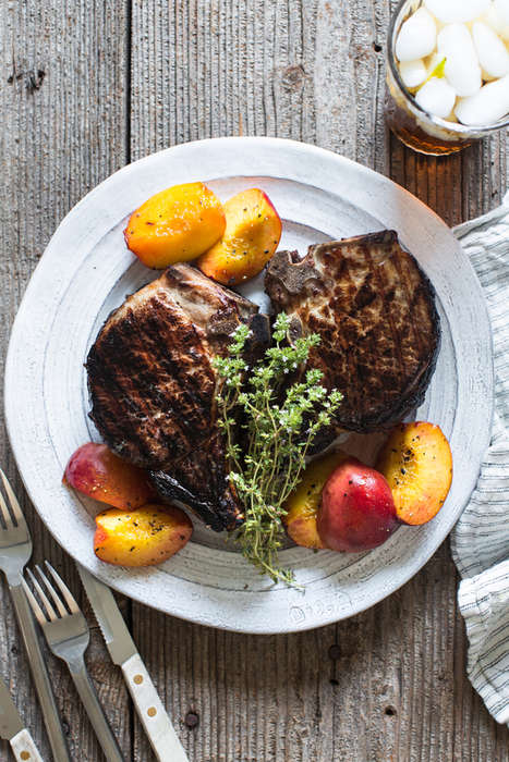 Sweet Tea Pork Chops - These Double-Cut Pork Chops are Infused with a Classic Southern Beverage