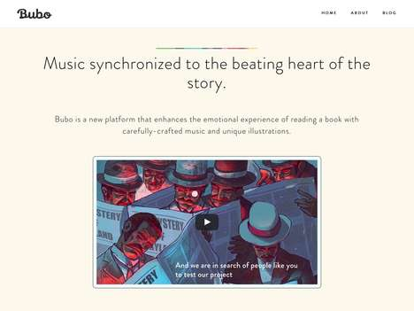 Music-Synchronizing E-Readers - Immersive Reading Platform Bubo Syncs Music to Illustrated Books