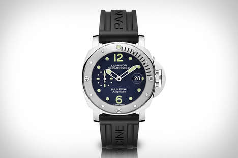 Online-Only Luxury Timepieces - The Panerai Luminor Submersible Acciaio Watch is Stylishly Modern