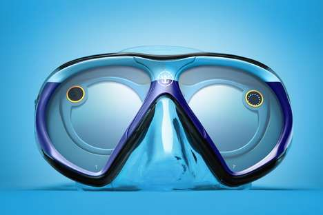 Social Media Scuba Masks - The Royal Caribbean SeaSeekers were Created in Partnership with Snapchat