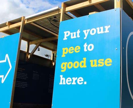 Trend maing image: Urine-Powered Festival Displays