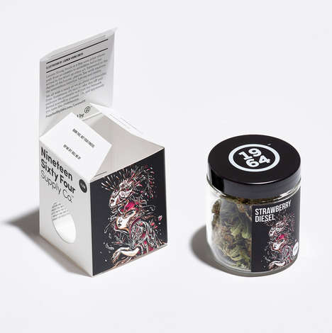 Illustrated Cannabis Packaging - 1964 Supply Co. Offers Artistic Imagery on Its Boxes and Jars