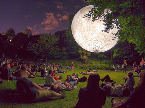 Moon-Replicating Installations - 'The Museum of Moon' is Set to Descend Over London, England