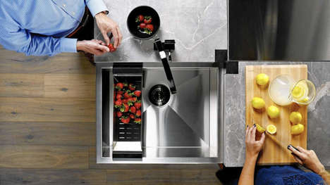 Communal Corner Island Sinks - The 'SocialCorner' Sinks Make the Most of Limited Space