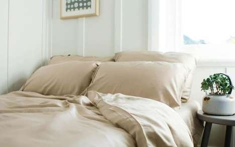 Coffee-Infused Bedding Collections - The Ettitude Bedsheets are Made Using Repurposed Coffee Grounds
