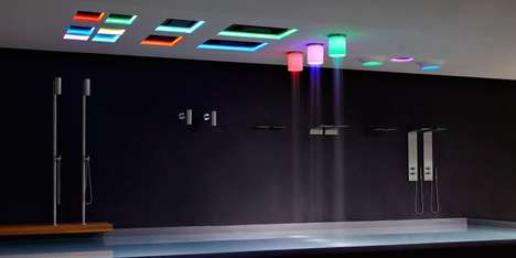 LED Lantern Shower Heads