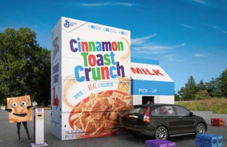 Cinnamon Cereal Drive-Thrus - This Cinnamon Toast Crunch Pop-Up Helps Families on Road Trips Refuel