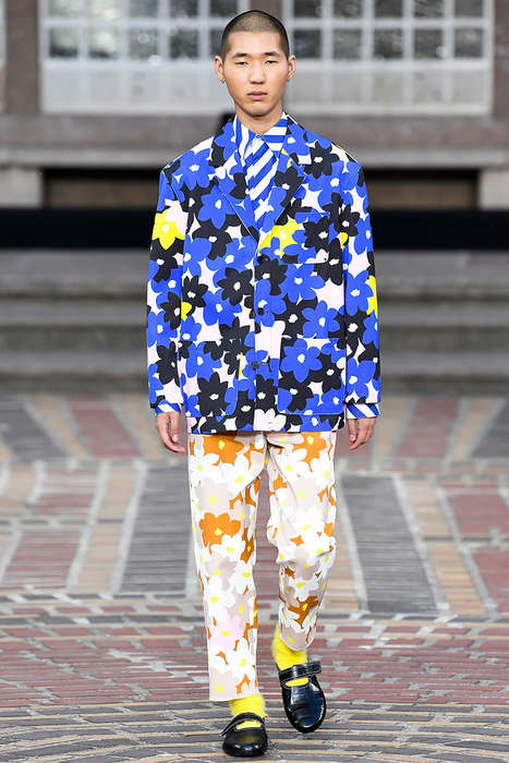 Boldly Patterned Japanese Fashion - The New Kenzo Collection Was Debuted During Paris Fashion Week